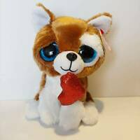 "Smootches the Love Dog - Ty Beanie Boo Plush Style 36662 - Regular 6"" 15cm - NEW"