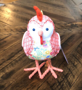 Target 2021 Spritz Easter Spring Rooster Fabric Bird Coopster Figurine NWT