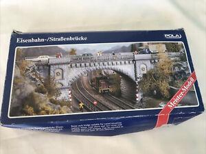 POLA No 621 HO Gauge Railroad Stone Ache Bridge Train Model Set