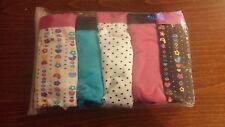 Ladies 95% Cotton. Pack of 5 boypant style briefs. Fushia. Size 10