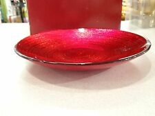 "4 AWESOME! MIKASA CHRISTMAS CELEBRATION RED & GOLD 8.5"" PLATE  RETIRED 2007"