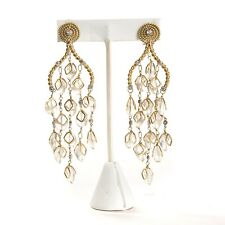 Kara Ross Moonstone 18k Gold Chandelier Earrings