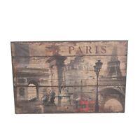 Wandschild Vintage Schild Dekoschild Shabby Holz Chic 88 Cm Retro Paris Style