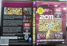2011 State of Origin Series DVD 3 Discs NSW v QLD. Bonus Footage NRLVD-151