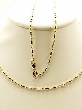 18k Solid Rose Gold Mooncut Beaded necklace/ Chain 4.79 Grams