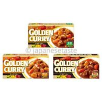 S&B Foods Golden Japanese Curry Roux Sauce Mix 198g - Mild / Medium / Hot