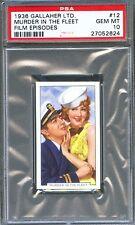 1936 Film Episodes Card #12 ROBERT TAYLOR Jean PARKER Murder in the Fleet PSA 10