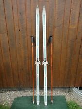 """GREAT Ready to Use Cross Country 73"""" Long ROSSIGNOL 190 cm Skis +  Poles"""