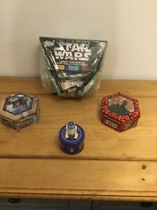 Star Wars Topps Candy Containers & Collection Cards, Episode 1 Sweet Tins Sealed