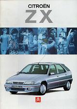 Citroen ZX 1994-95 UK Market Brochure 16v Volcane Furio Aura Avantage Reflex
