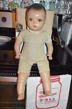 vintage composition baby doll nodding eyes with wear