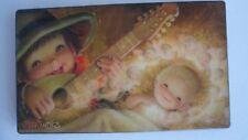 Ferrandiz Wood Wall Plaque Laquered Picture Baby Jesus Angels Boy