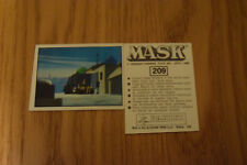 Mask Panini sticker 1986 ( M.A.S.K.  Kenner parker toys ) number 209