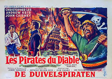 DEVIL SHIP PIRATES 1963 Christopher Lee Andrew Keir John Cairney BELGIAN POSTER