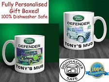Landrover Defender 90 Personalised Ceramic Mug Gift. (C010)