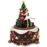 Ballerina Dancing with Nutcracker Spinning Musical Christmas Figurine