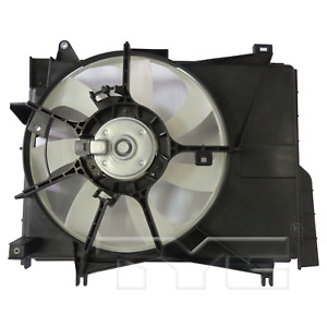 Dual Radiator & Condenser Cooling Fan Assembly for 14-19 Mitsubishi Mirage AT