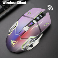 2.4G Optical Rechargeable Wireless LED Backlight Wired Gaming Mouse USB Receiver