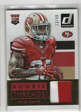 Mike Davis 2015 Panini Donruss 2 CLR RC Rookie JSY Card, /49, 49ers, # DRT-MD