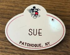 Disney Cast Member Name Tag Badge Pin Sue Patchogue NY
