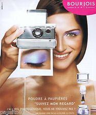 PUBLICITE ADVERTISING 075  2003  BOURJOIS  maquillage   SUIVEZ MON REGARD