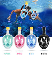 Full Face Snorkeling Mask Scuba Surface Anti-Fog Swimming Diving for GoPro