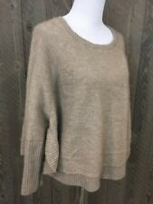 Women's Eileen Fisher 100% Cashmere Poncho Style Sweater. Size M. Beige