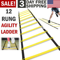 Agility Ladder Speed Training Footwork Football Sports Athletic Fitness Exercise