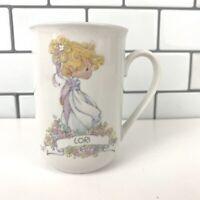 LORI Precious Moments Enesco Vintage Personalized WHITE Mug 1990 - Blonde Girl