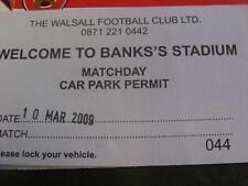 10/03/2009 Ticket: Walsall v Crewe Alexandra  (Car Park Ticket). No obvious faul