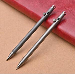 Titanium Mini Keychain Bolt Action Pen Outdoor Travel Portable EDC Ballpoint Pen