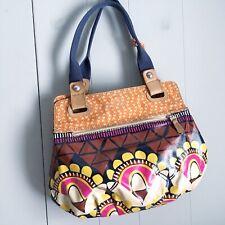 FOSSIL KEY-PER Large Coated Canvas Mod Boho Safari Floral Tote Shoulder Bag