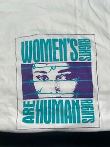 Woman rights are human rights Unifem Beijing 1995 Extremely Rare T-Shirt Large