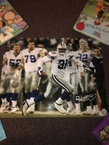ROY WILLIAMS  SIGNED DALLAS COWBOYS PICTURE FOOTBALL 20x16