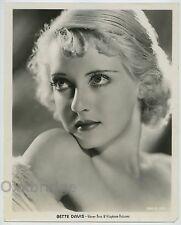 BETTE DAVIS Stunning Very Young 1932 Vitaphone Art Deco Glamour Portrait J1093