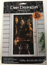 Haunted Mansion Stairway Door Decoration for Halloween, Reusable