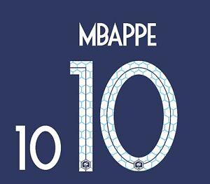 MBappe #10 France World Cup 2018 Home Football Nameset shirt