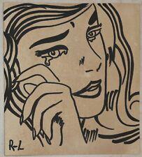 Ink drawing signed R-L ROY LICHTENSTEIN