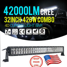 Barra Luminosa Curva 32 Pulgadas LED CREE 420W Ideal SUV Barco OFF ROAD TRUCK