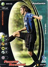 FOOTBALL CHAMPIONS 2001-02 Fausto Rossini 004/100 Atalanta FOIL
