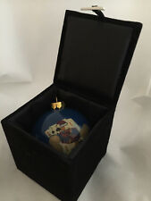 New listing Valley View Casino Ca deck the halls Christmas Tree Holiday Ornament Ball in Box