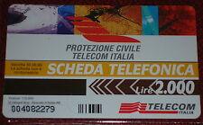 PROTEZIONE CIVILE TELECOM ITALIA ( GOLDEN PRP 349 ) SCHEDA TEL. TELECOM NUOVA
