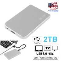 "Portable USB 3.0 2TB 2.5"" External Hard Drive Disk Ultra Slim For PC Laptop DTD"