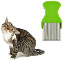 Dogs Hair Lice Nit Pet Flea Eggs Dirt Dust Remover Steel Tooth Comb Health Brush