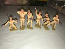 MARX WWII JAPANESE SOLDIERS SET OF (6) FIGURES PROFESSIONALLY PAINTED 1/32 SCALE