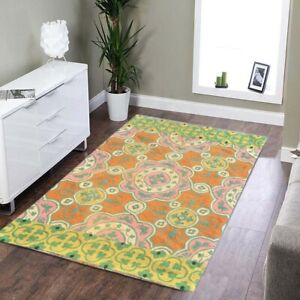 858 Vintage Aubusson Rug Handwoven Floral Needle point Tribal Wool Area Rug 3x2