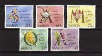10654) SAMOA 1993 MNH** Christmas - Flowers 5v