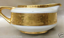 HUTSCHENREUTHER HUT1010 FAVORIT CREAMER 8 OZ ENCRUSTED DAISIES GOLD BAND
