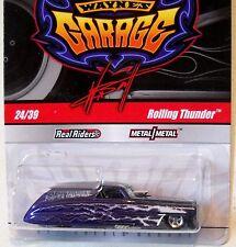 2011 Hot Wheels WAYNE'S GARAGE #24 * ROLLING THUNDER * PURPLE CHASE FUNNY CAR
