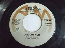 Joe Cocker You Are So Beautiful / It's A Sin When You Love Somebody Vinyl Record